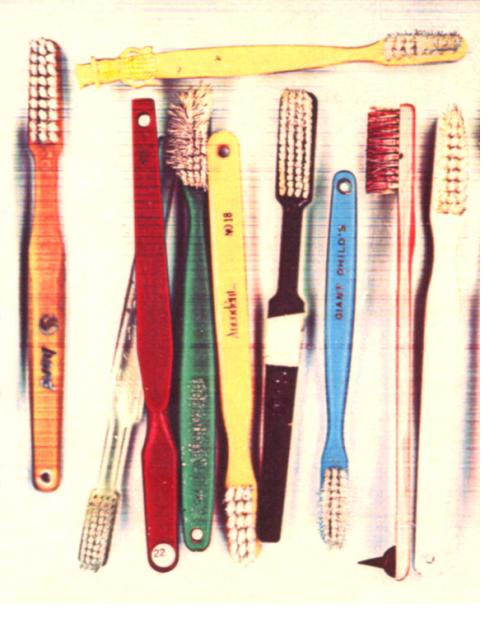 Mr. Peant toothbrush print